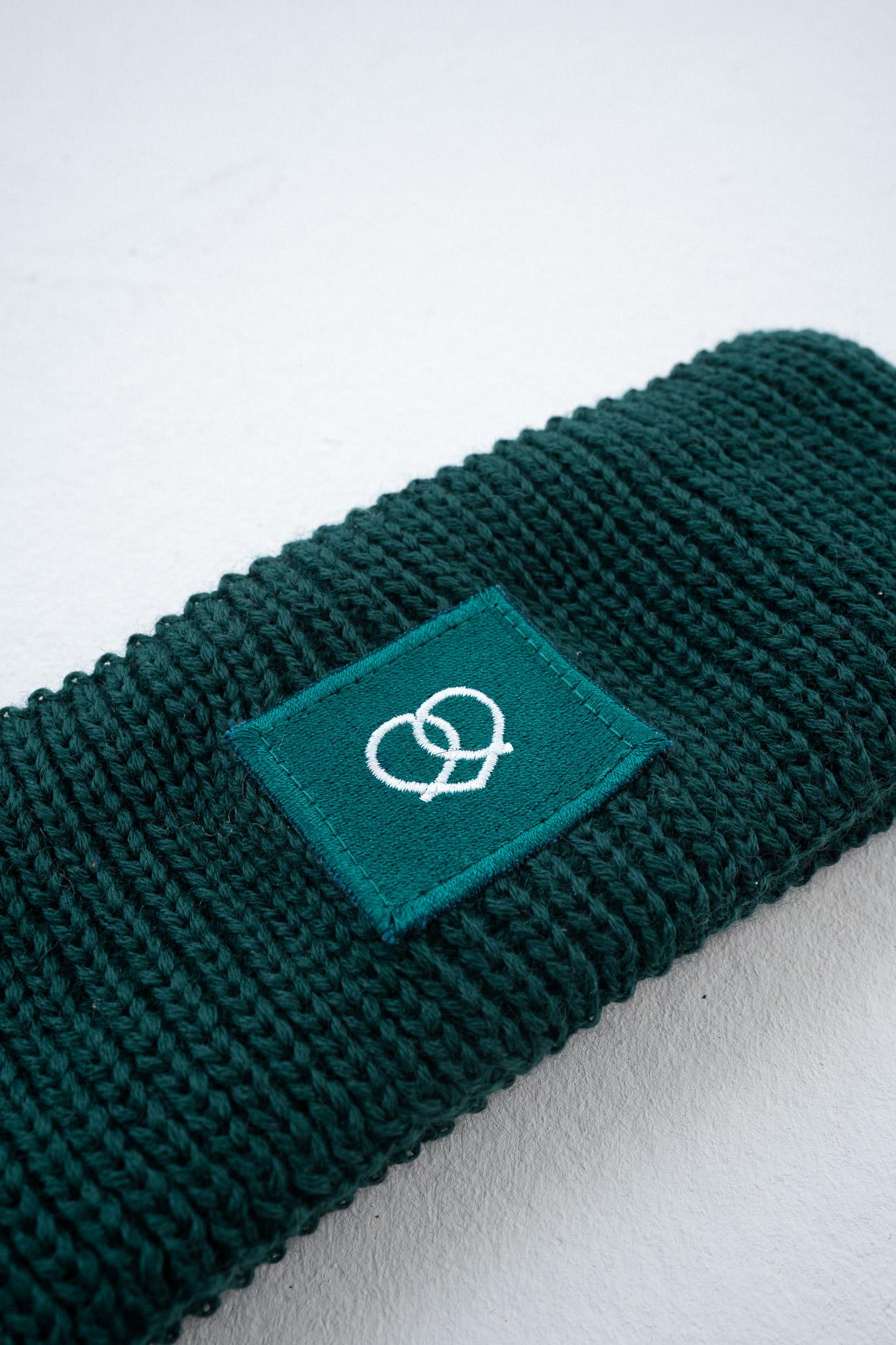 Stirnband Smaragdgrün