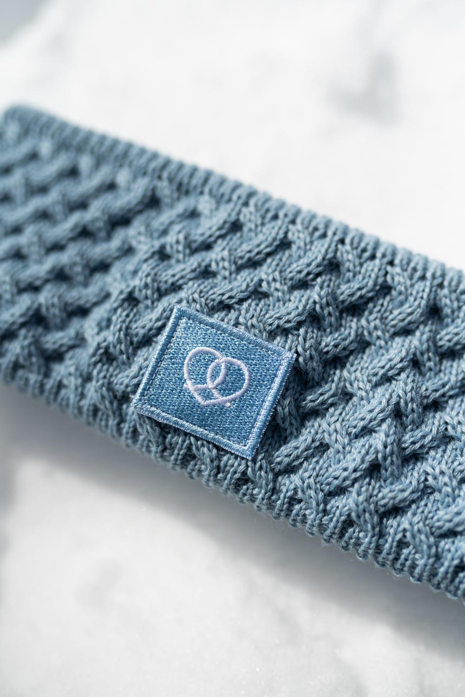 Winterstirnband Eisblau