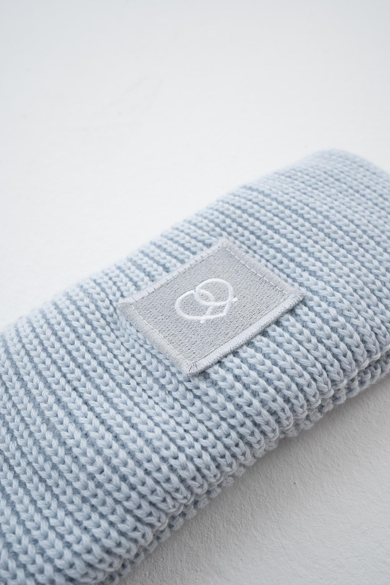 Stirnband Eisblau